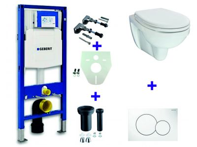 Geberit UP-320 + Trevi one pack + Sigma 01 wit