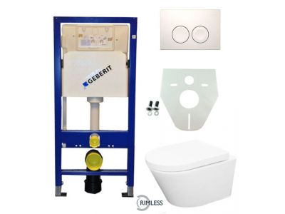 Geberit UP 100 Vesta Rimless wc+zitt.+ Delta 21 wit