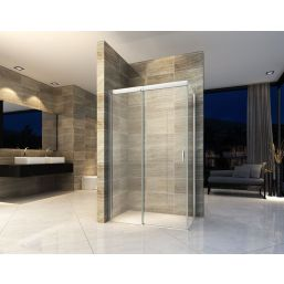 Wiesbaden douchedeur Softclose +wand 1200x900x2000 chr.8mm NANO